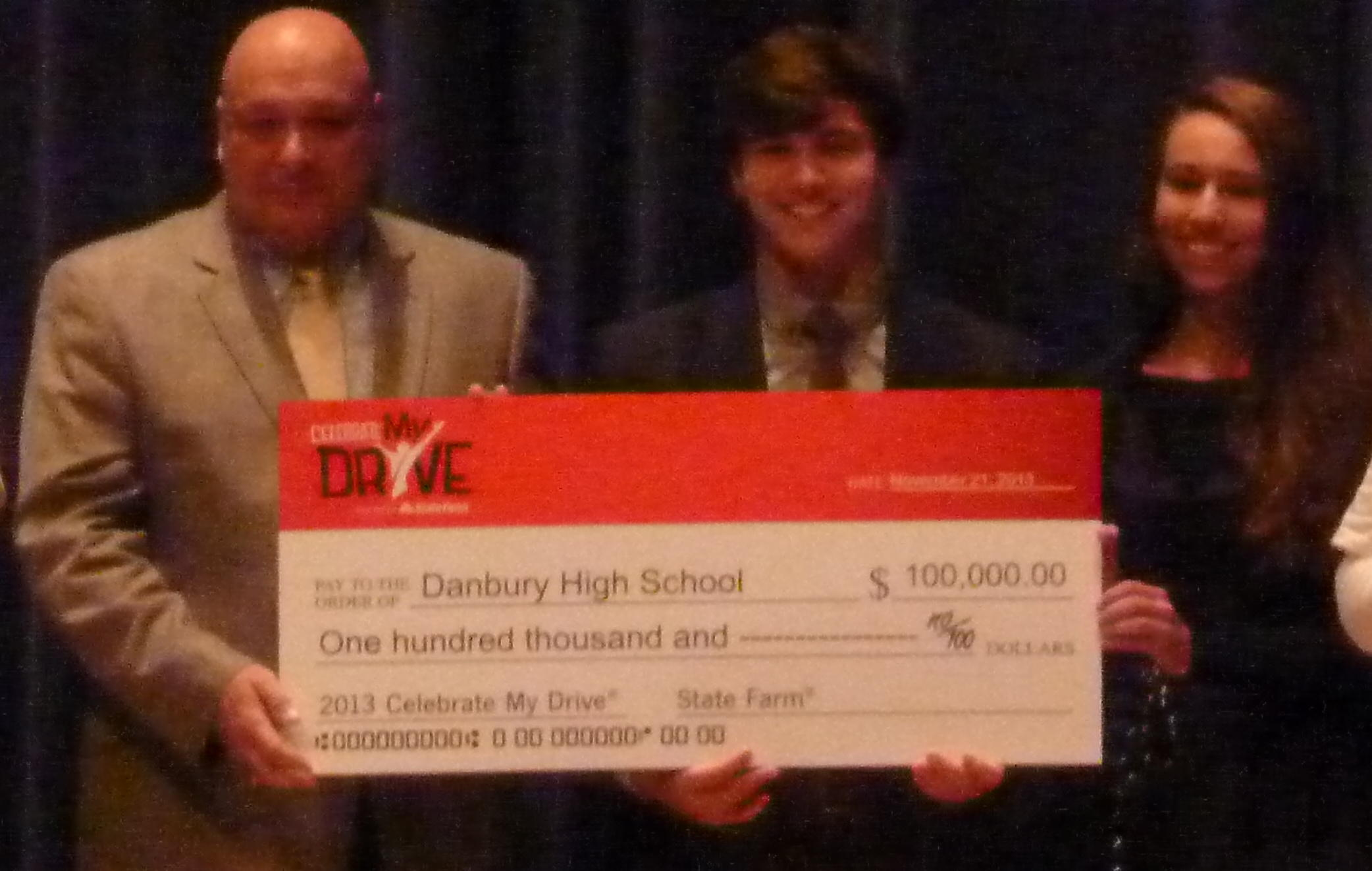 Danbury High wins $100,000 grant in safe driving contest